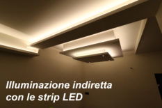 Illuminazione indiretta con le strip LED